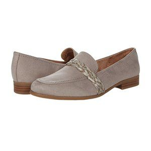Life Stride Marlow Soft System Suede Upper Moc Toe Braided Decal Slip On Loafer